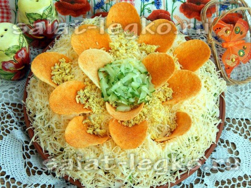 Салат лотос рецепт с фото
