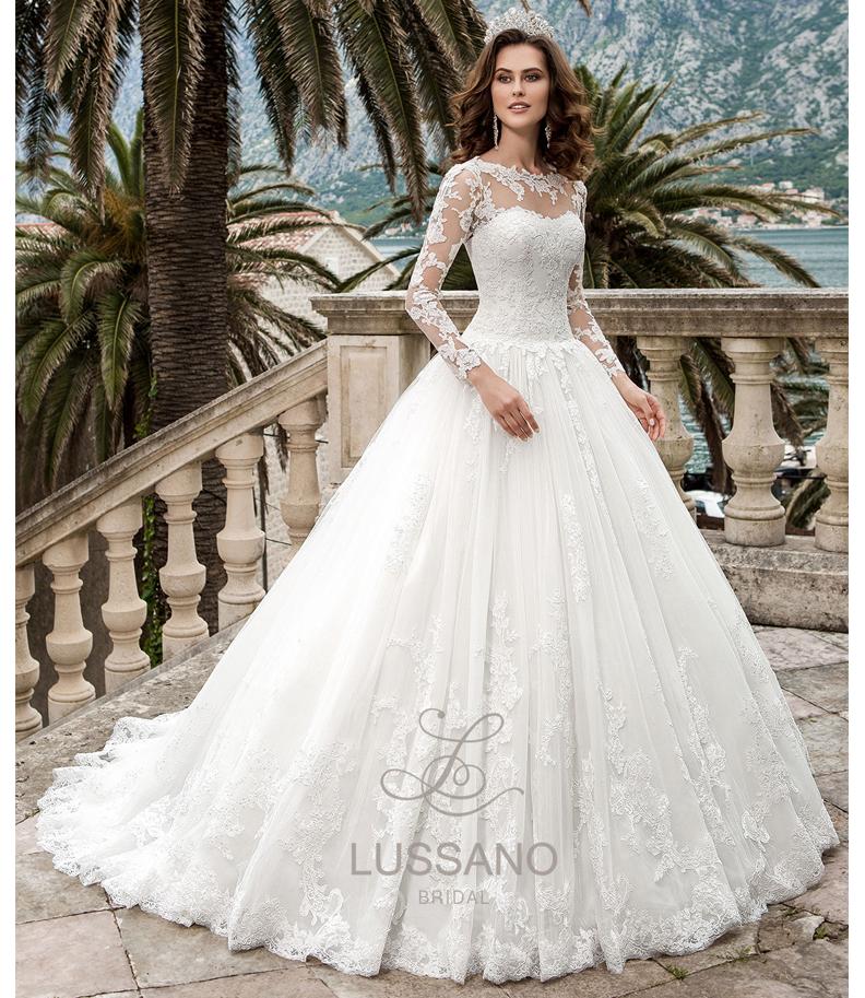 Закрытые свадебные платья.фото