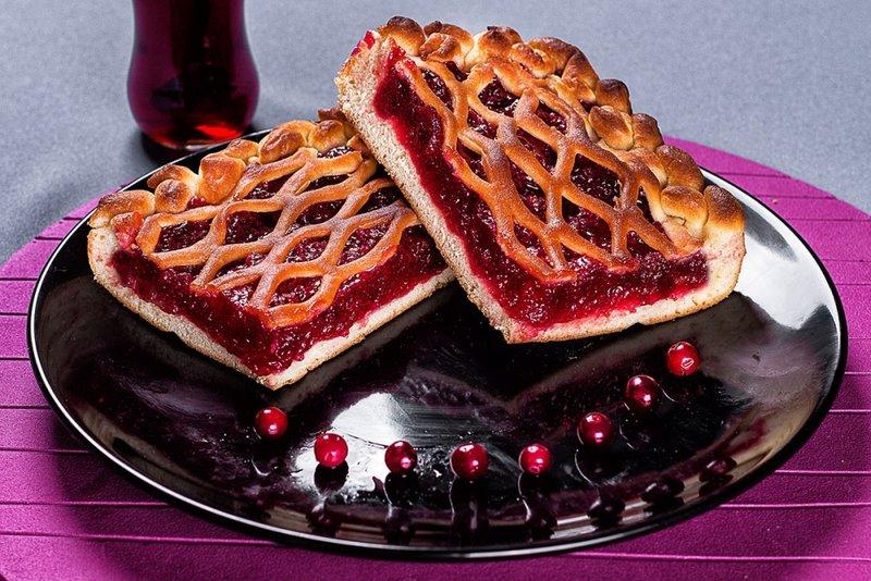 Яблочно брусничный пирог рецепт с фото