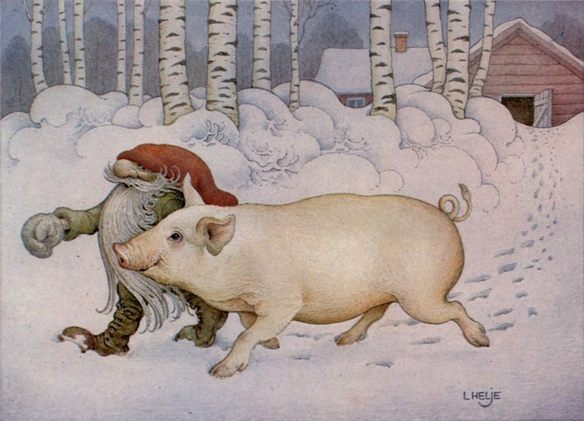 Прикольные рисунки свиньи новый год, юленьке днем