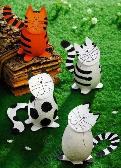 Кошачья банда - полосатые и пятнистые - делаем поделки из ... Детские поделки и аппликации своими руками – из пластиковых бутылок ...