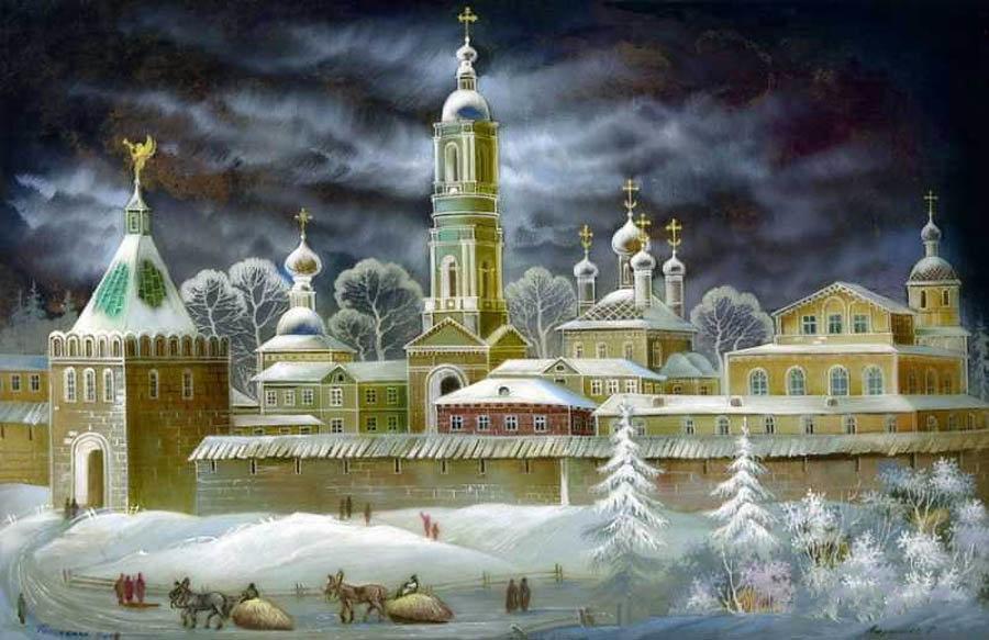 Открытки с соборами и церквями, картинка майнкрафт