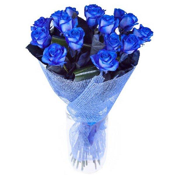 Букет цветы из синие розы картинки, лепестки