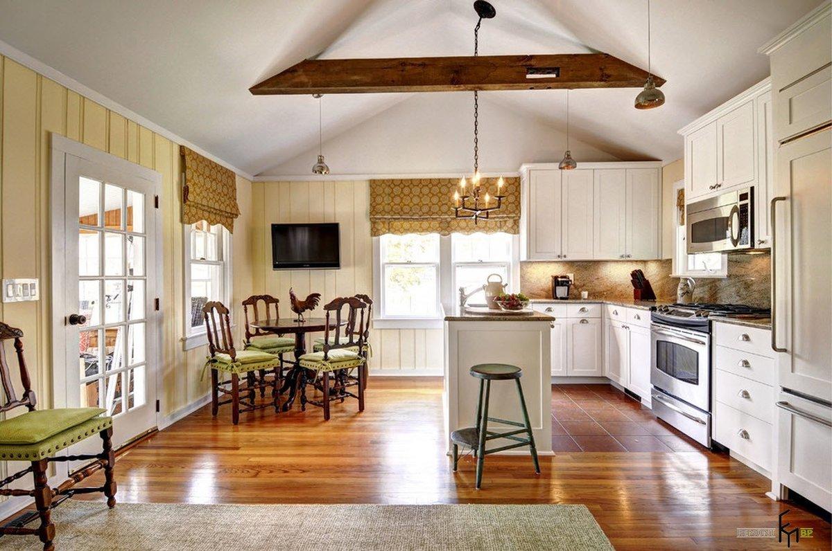 это кухни картинки дизайн интерьера для частного дома бюджетный теплые дни