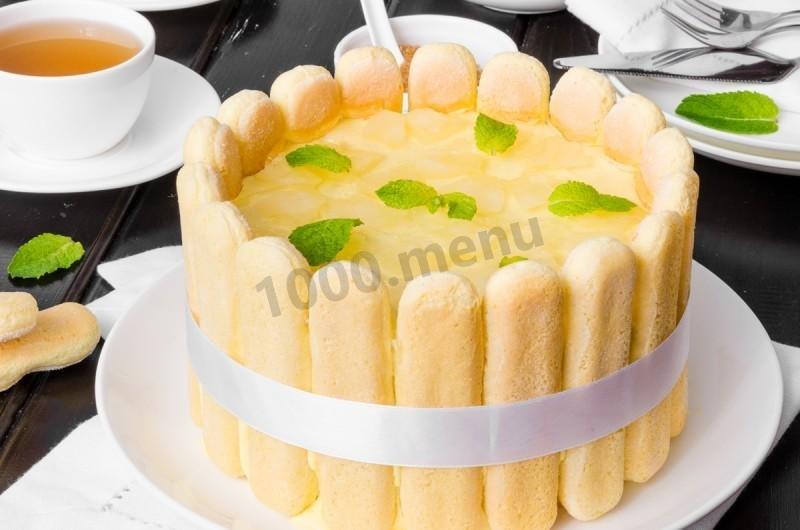 рецепт торта с ананасами с фото