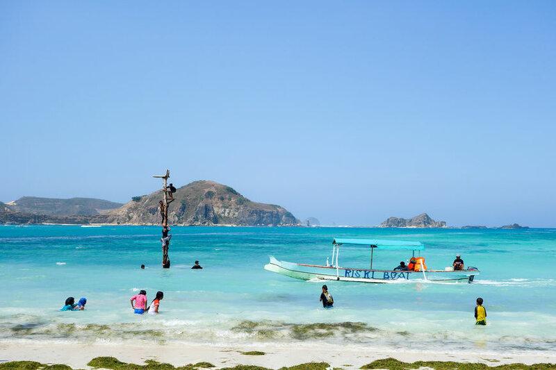 Пляж в Индонезии