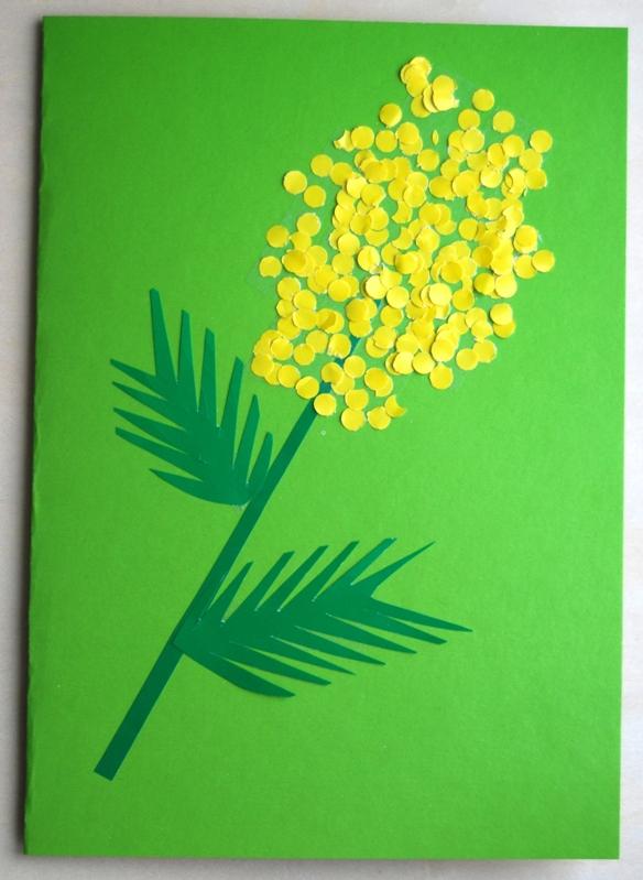 Открытки поздравление, открытка мимоза своими руками в детском саду