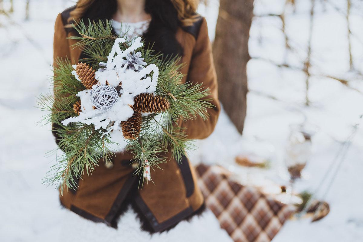 Стиль зимней свадьбы фото