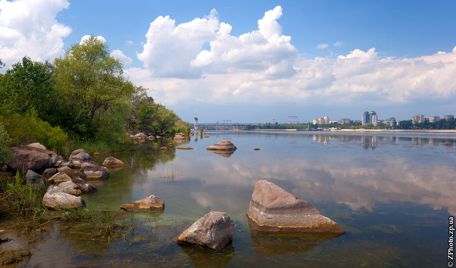 Картинка берега днепра