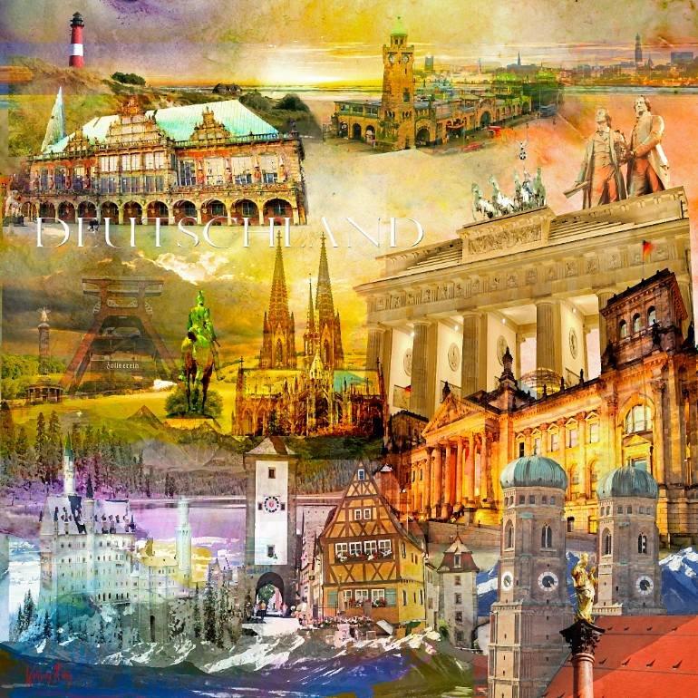 серебру коллаж с картинками по германии роскошный довольно большой