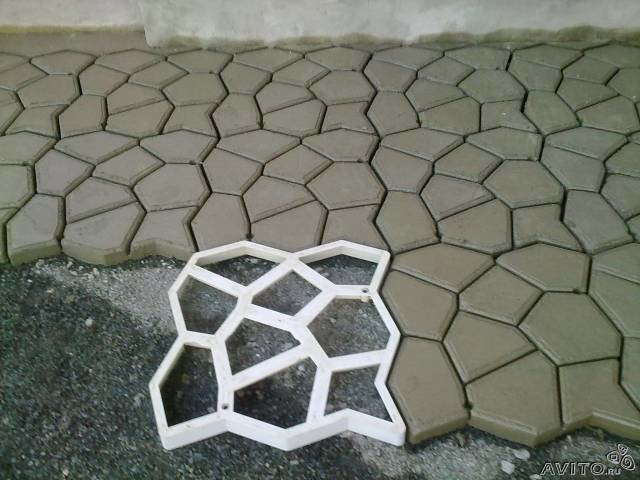 форма для бетонной дорожки своими руками