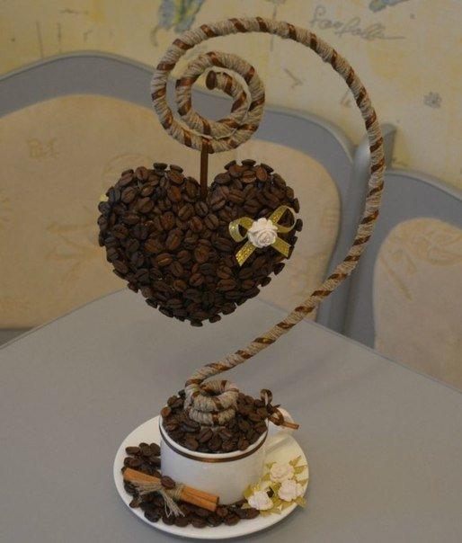 Поделки из кофейных зерен. Мастер-классы с фото