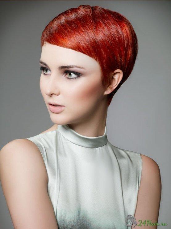 короткие стрижки и красный цвет волос фото львица утверждает