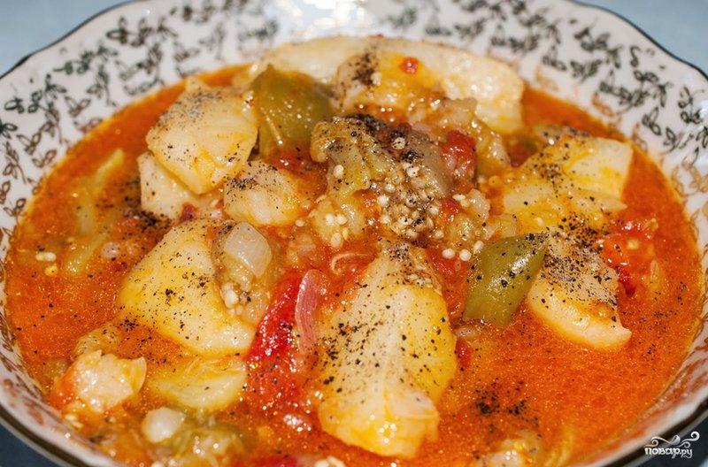Баклажаны тушеные с картошкой рецепт с фото