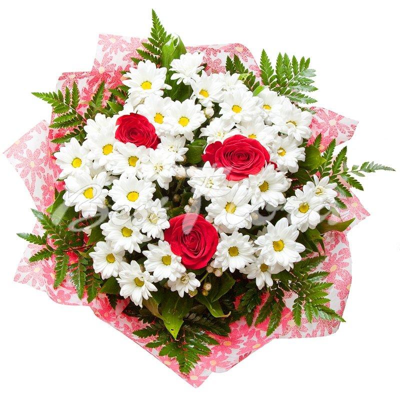 Цветы, коллекция букеты из роз и хризантем