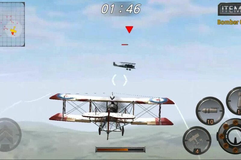 Игровое видео: Air Battle World - миссия бой с бомбардировщиками противника, играя на Android OS.
