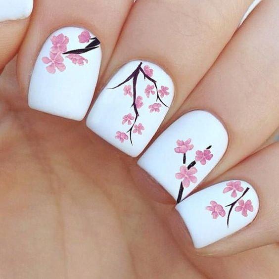 Ногти дизайн сакура фото