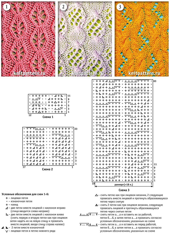 разные схема раппорт вязание спицами