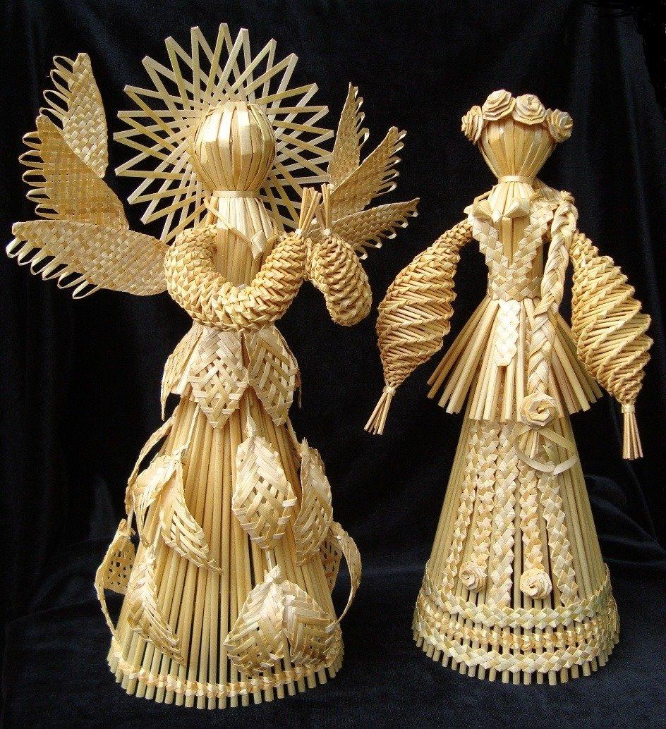 Куклы из соломы фото