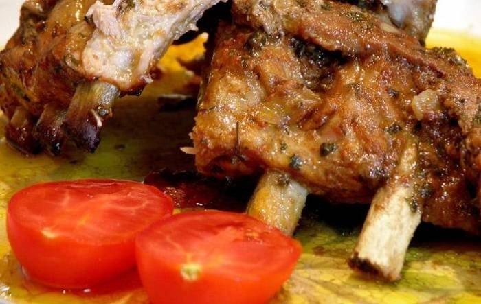 рецепт ребра свиные в духовке в рукаве