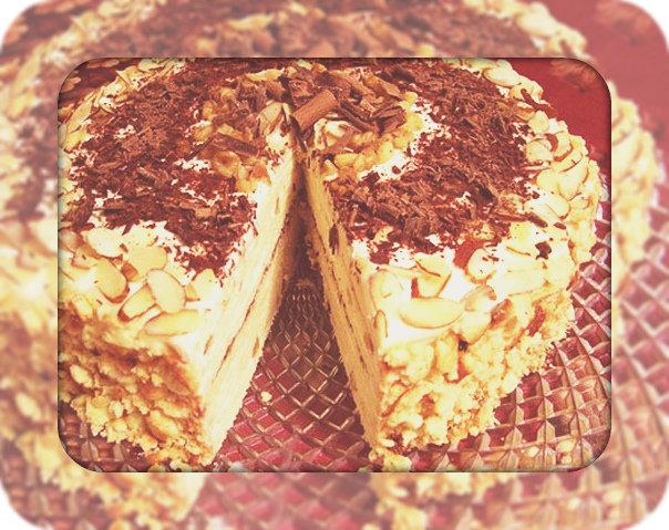 Миндальный торт рецепты фото