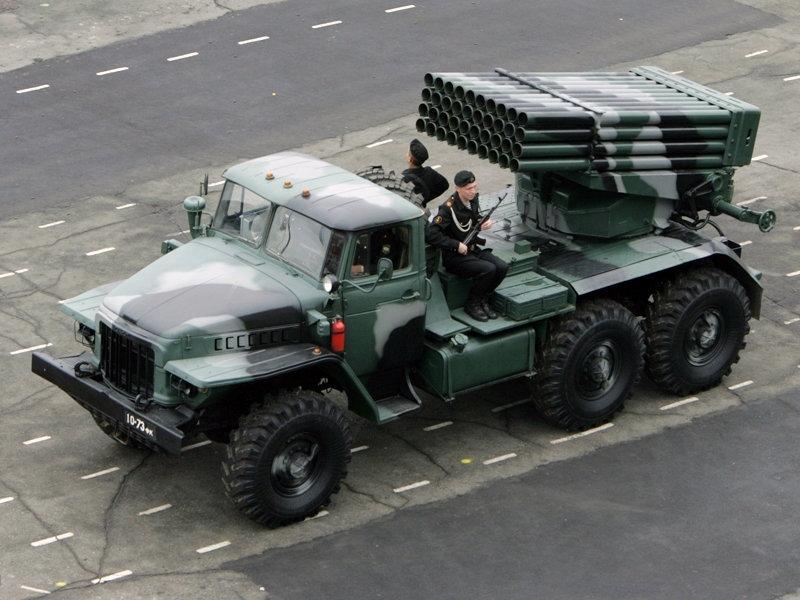 """БМ-21-1 """"Град"""" на шасси Урал 4320"""