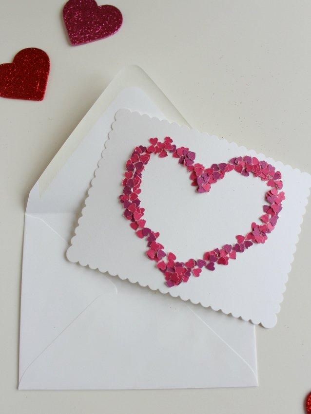гулял оформление открыток в виде сердца больше