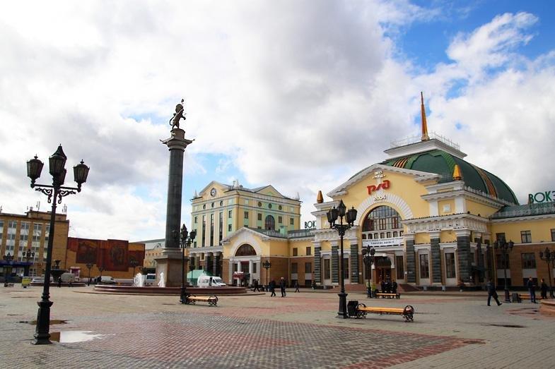 Жд вокзал рисунок красноярск