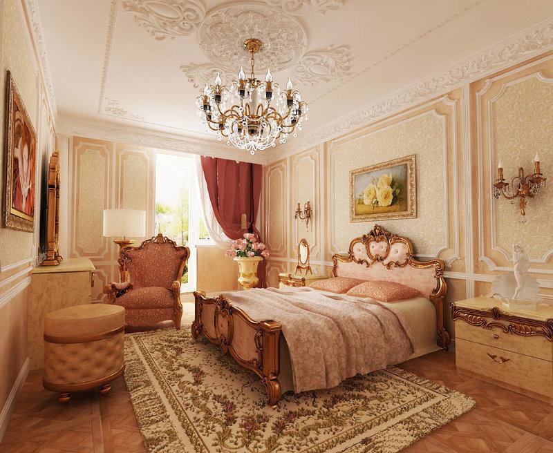 Фото спален в стиле барокко