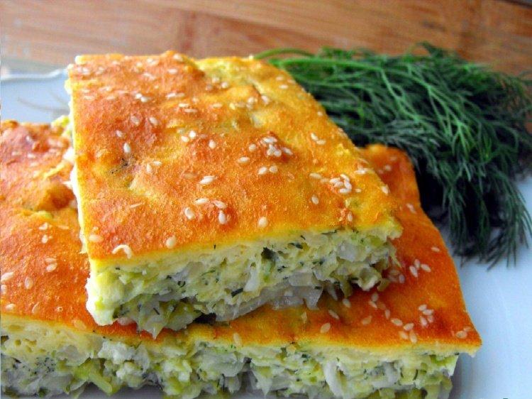 заливной пирог с капустой и яйцом рецепт