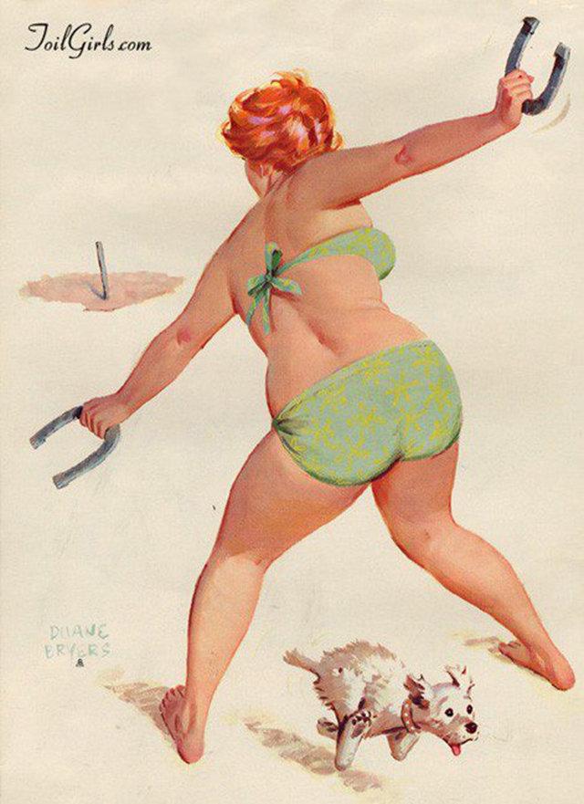 Смешные открытки с толстушками