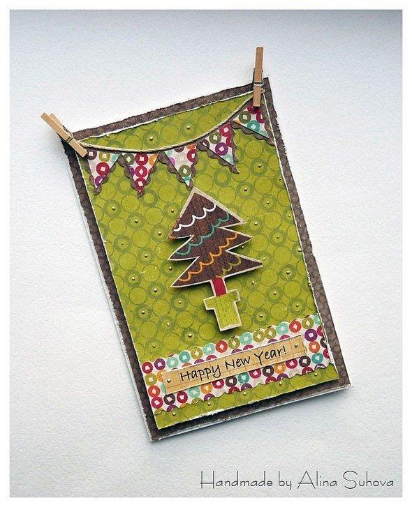 Тцу, аппликация новогодние открытки с сюрпризом