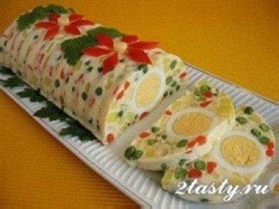 Салат желе к празднику