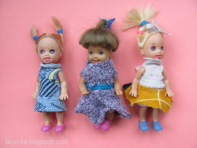 платья на маленьких кукол