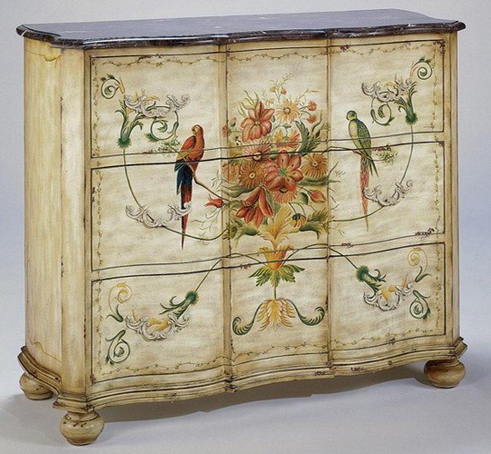 Мебель с росписью своими руками фото, цветов