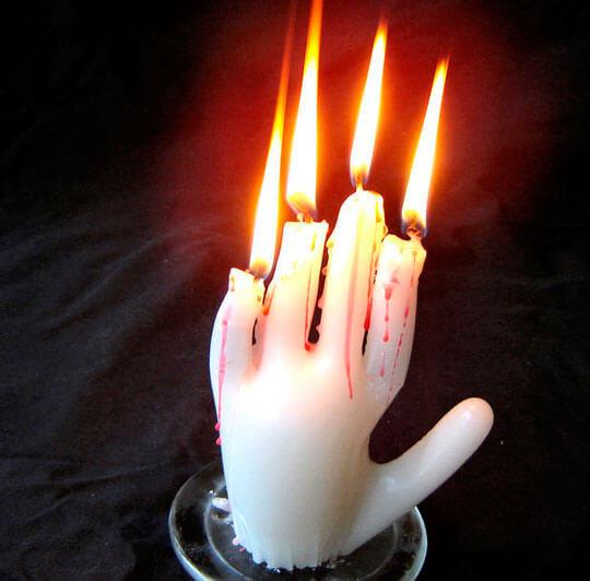 Изготовление свечей. Необычная свечка в форме руки