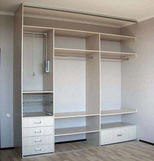 Встроенный шкаф для прихожей своими руками чертежи 55