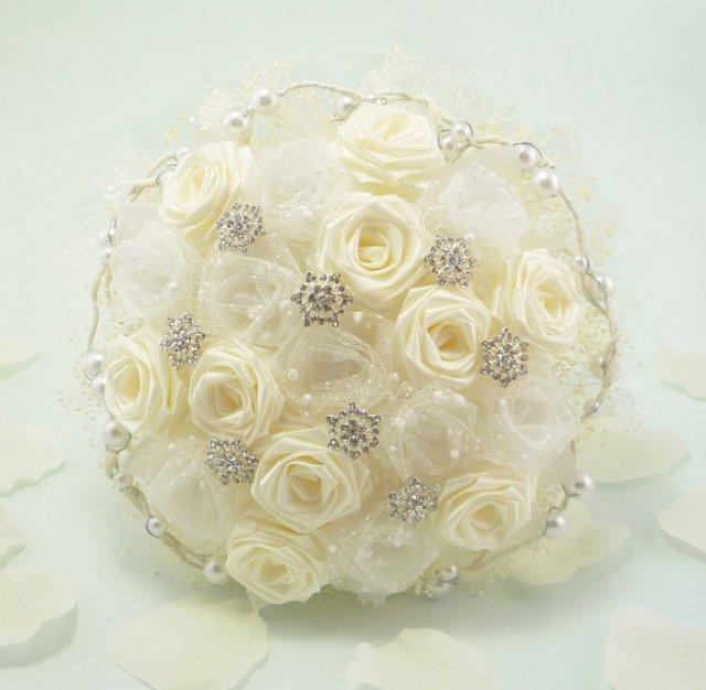 Букет для невесты от материалы, цветов