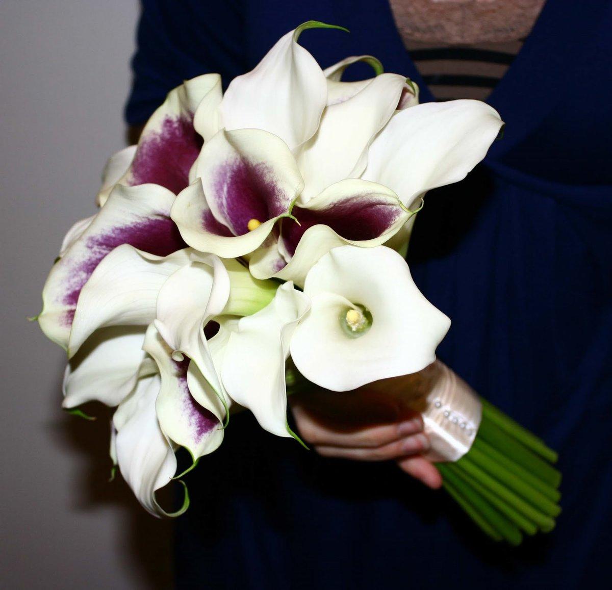 Авторские букет невесты из калл, магазин киев красноармейская