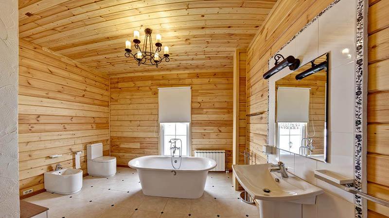 ванные комнаты в деревянном доме фото дизайн маленькие