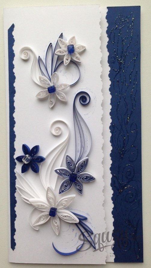 синие цветы для открытки своими руками таковым продуктам