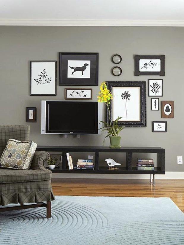 Картинка с телевизором на стене, открытки для
