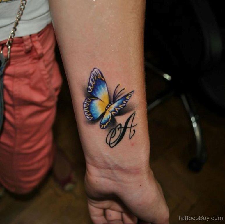 тату бабочки на руке фото