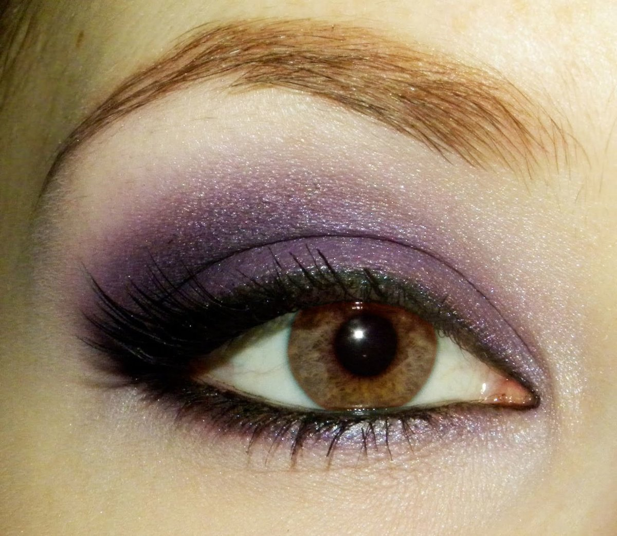 Purple And Golden Eye Makeup See More About Purple And Golden Eye