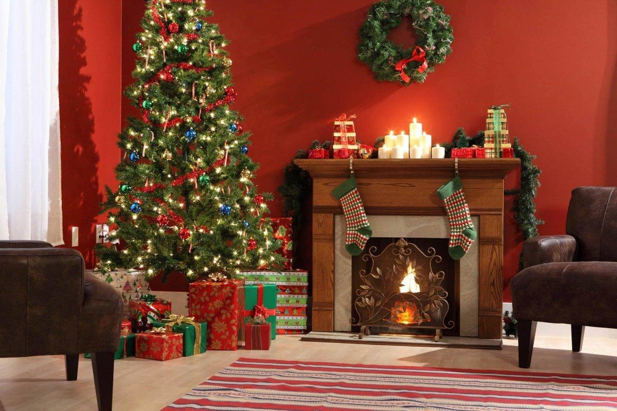 Картинки с елкой новогодней дома