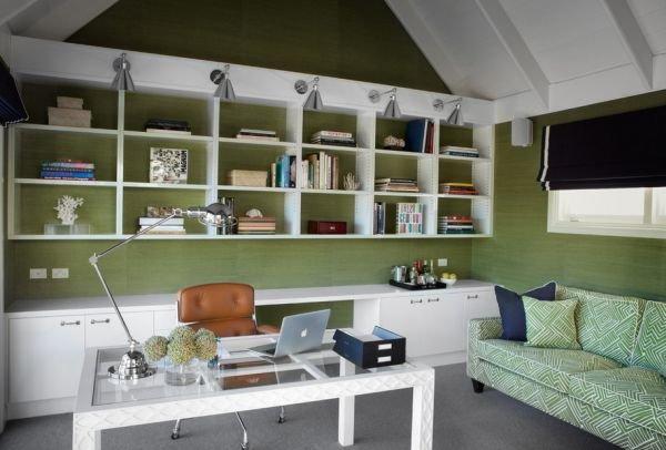 Домашний кабинет, в первую очередь, должен быть функциональным, чтобы там можно было эффективно работать, а в перерывах - комфортно отдыхать.