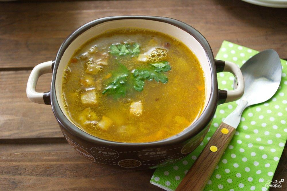гороховый суп рецепт с копченым салом с фото