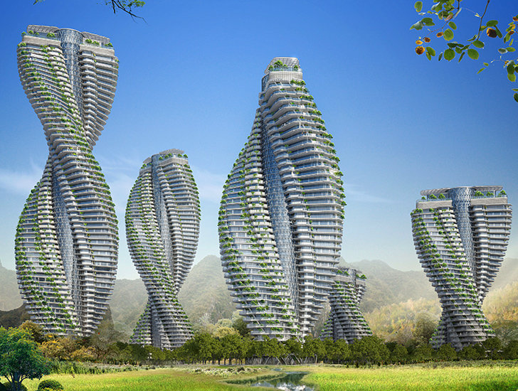 Vincent Callebaut | Inhabitat - Green Design, Innovation, Architecture, Green Building Vincent Callebaut's Twisting Citytree Towers Generate More Energy Than They Consume