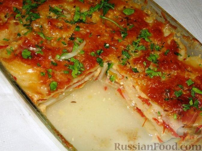 Картофель гратен в духовке рецепт с фото