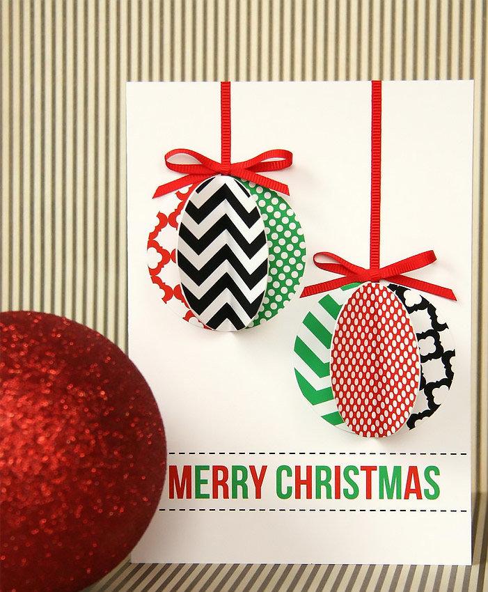 Простые идеи для открытки на новый год